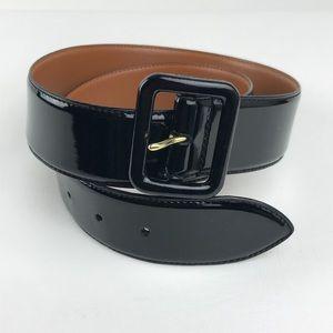Ralph Lauren Patent Leather Belt Black Shinny Med